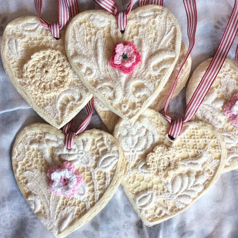 Handmade Cream Lace Decorations